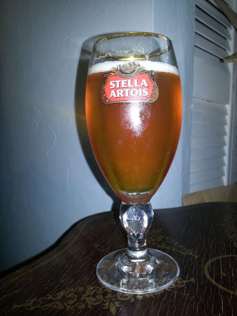 IPA in Stella Beer Glass