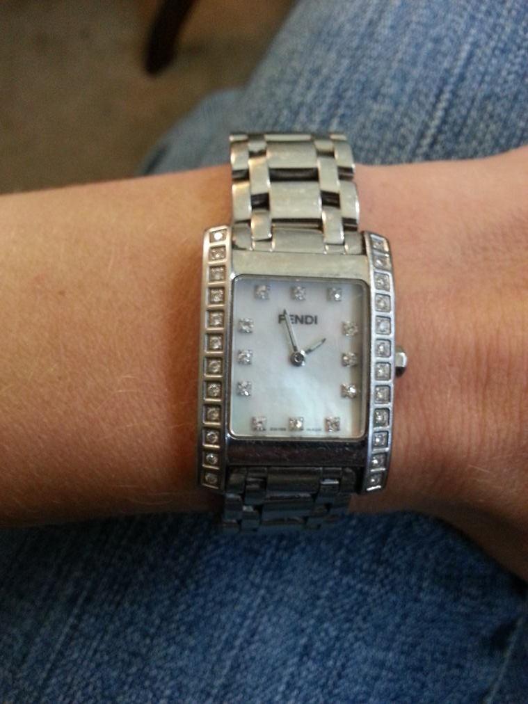 Stainless Steel and Diamond Fendi Watch