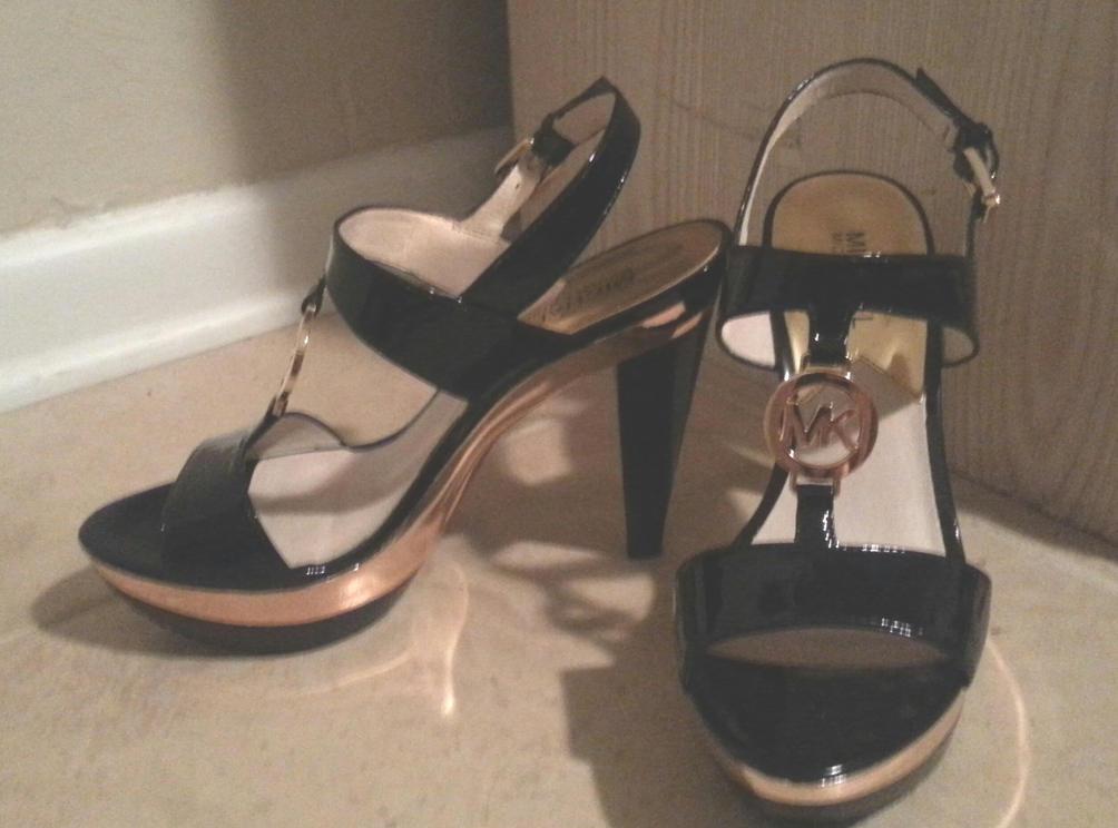 Black Patent Leather Michael Kors High Heels