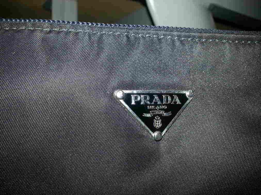 Prada Tag on Exterior of Purse