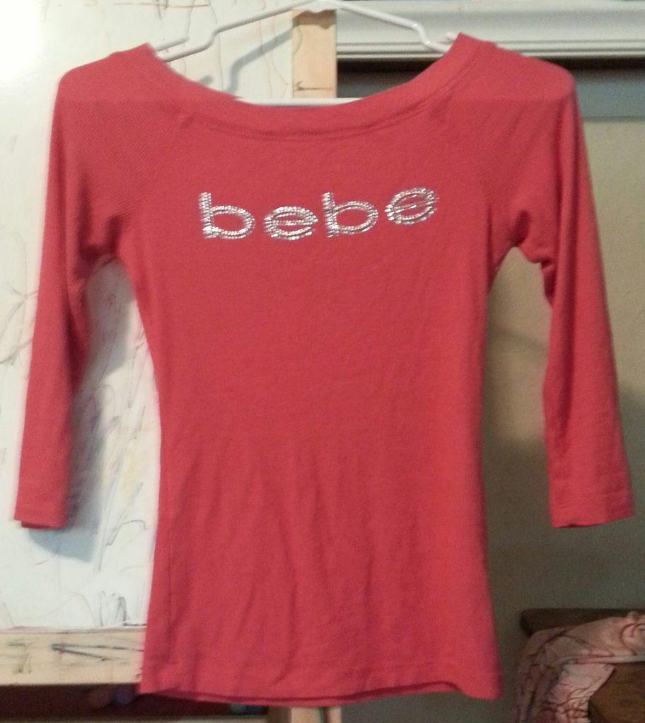 Salmon Colored Bebe Shirt