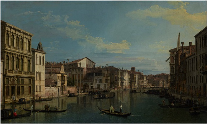 The Grand Canal in Venice from Palazzo Flangini to Campo San Marcuola
