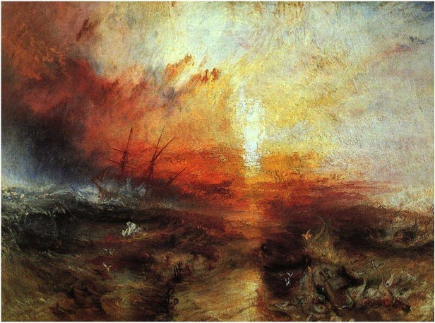 The Slave Ship (Slavers Throwing overboard the Dead and Dying - Typhoon coming on)