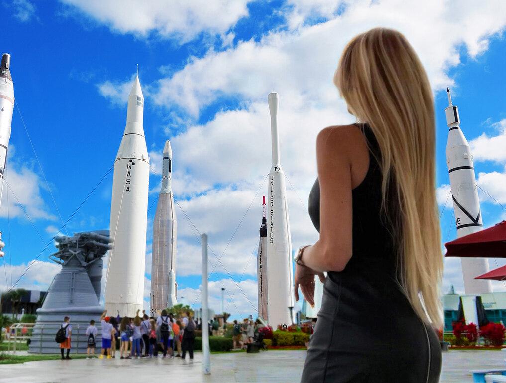 Sheyene Gerardi Kennedy Space Center Rocket Garden