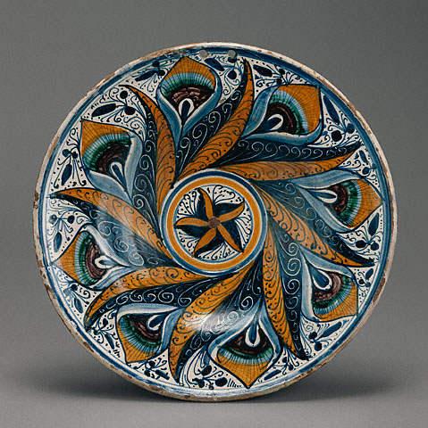 Peacock-Pattern Dish
