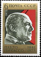 USSR Postage Stamp with Picasso's Portrait
