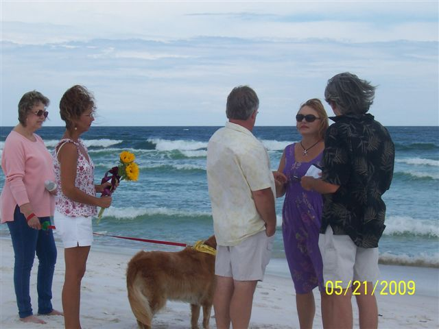 Renewing Our Vows on Navarre Beach