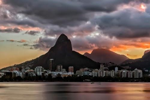 Sunset at Lagoa Rodrigo de Freitas, Rio de Janeiro