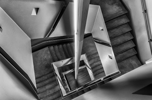 Stairs at ICA, Boston