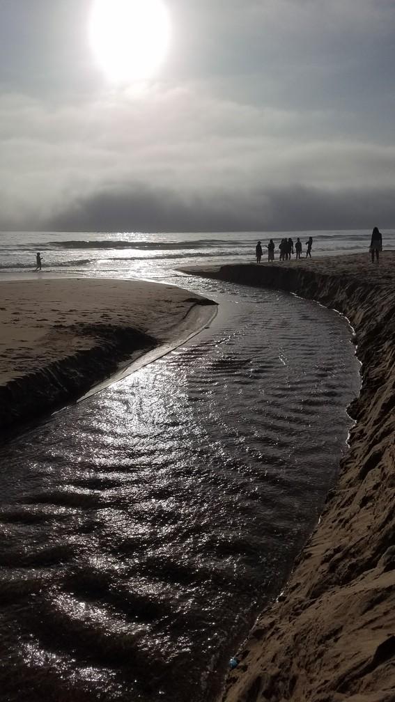 Gazos Creek Flows into the Pacific