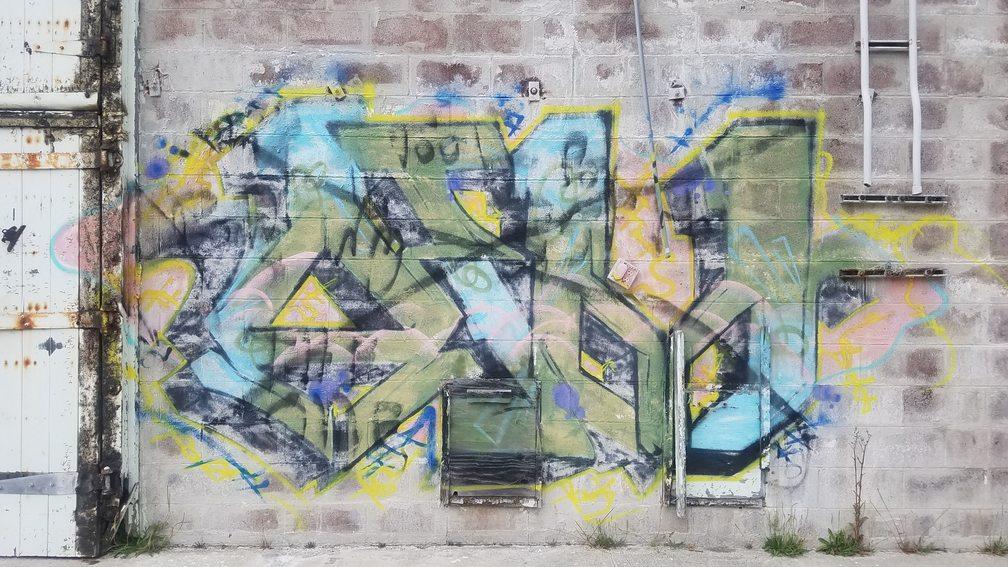graffiti at the mushroom farm