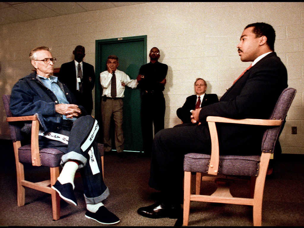 Image result for martin luther king's jr son meets with james earl ray 1997