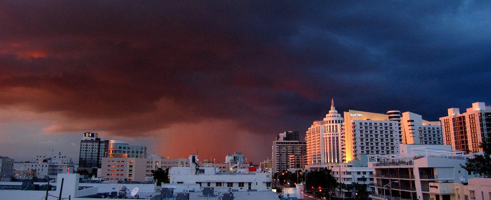 Approaching Thunderstorm,  South Beach FL