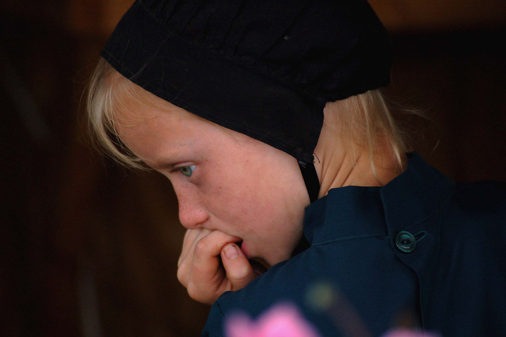 Sad Little Amish Girl