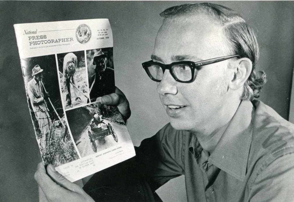Warren with NPPA magazine
