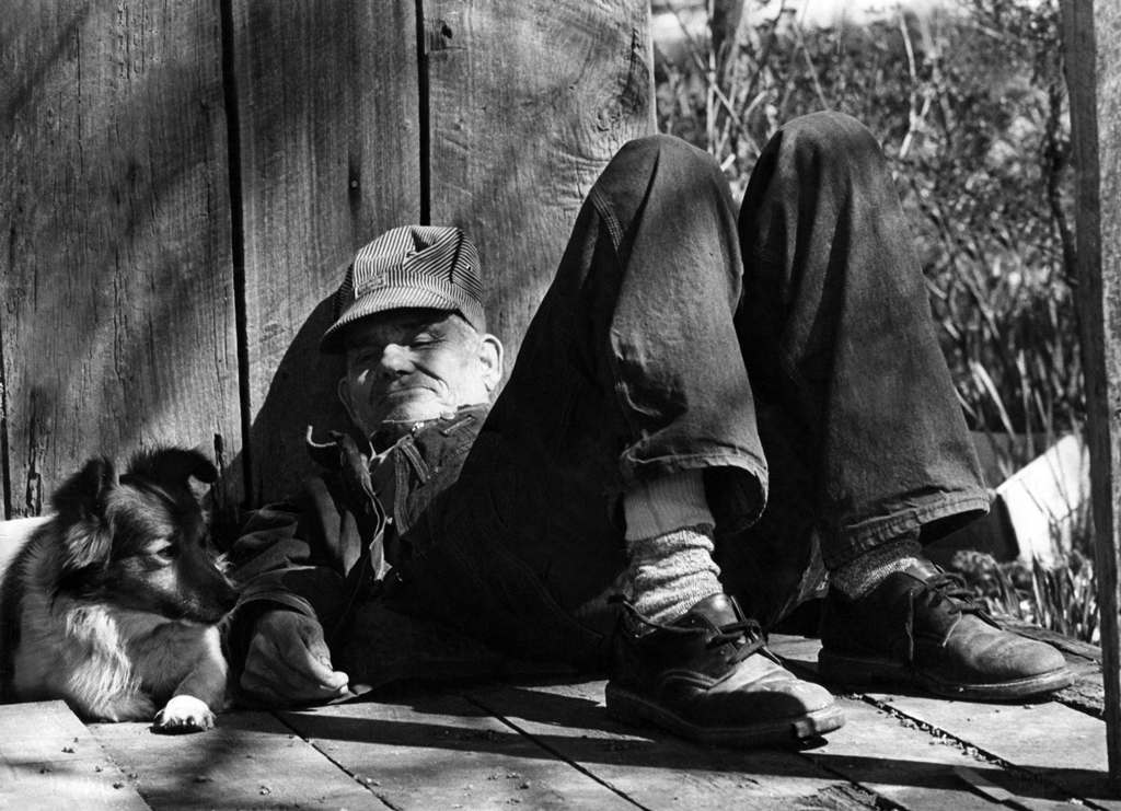 Dennis Walker and his dog, Columbus KY, 1976