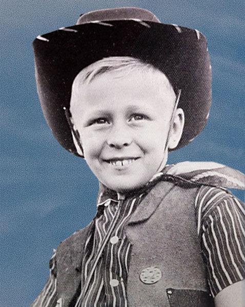 Tim Fleming as a Young Cowboy