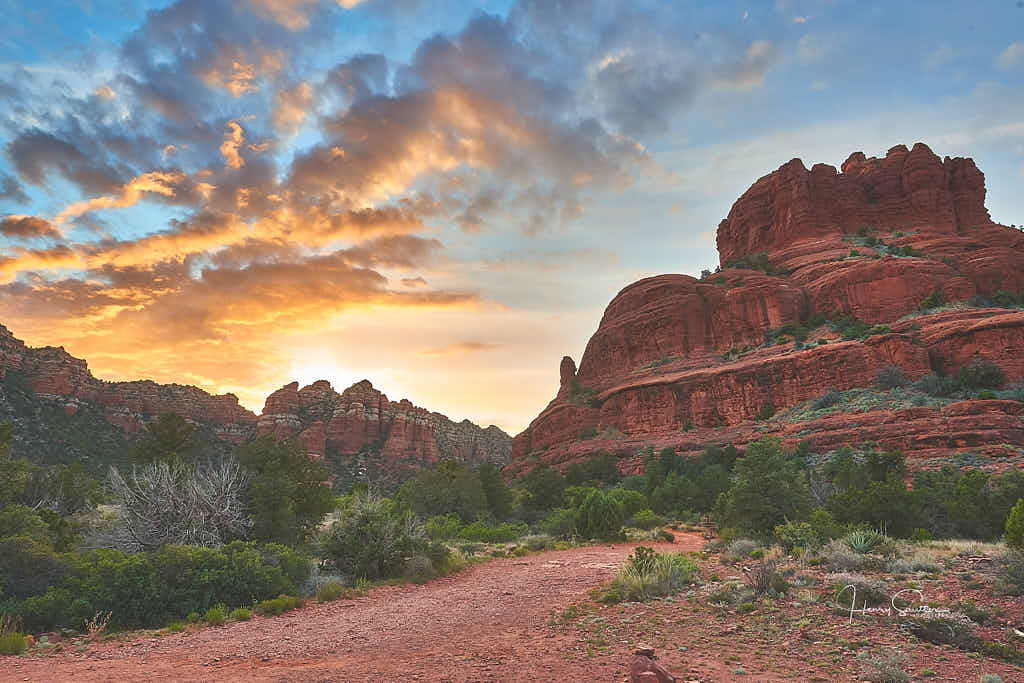 Bell Rock in Sedona at Sunset