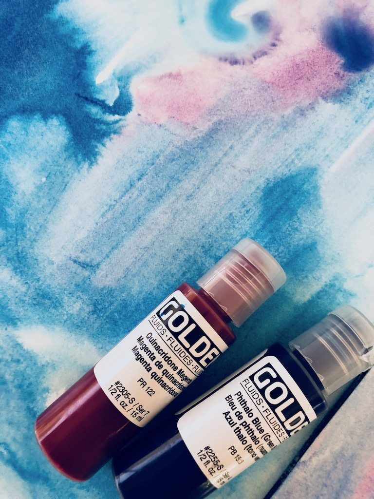 Fluid acrylics with painting
