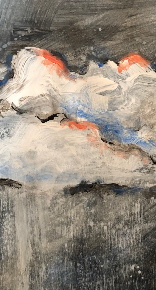 Detail of a painting by Christina Gates