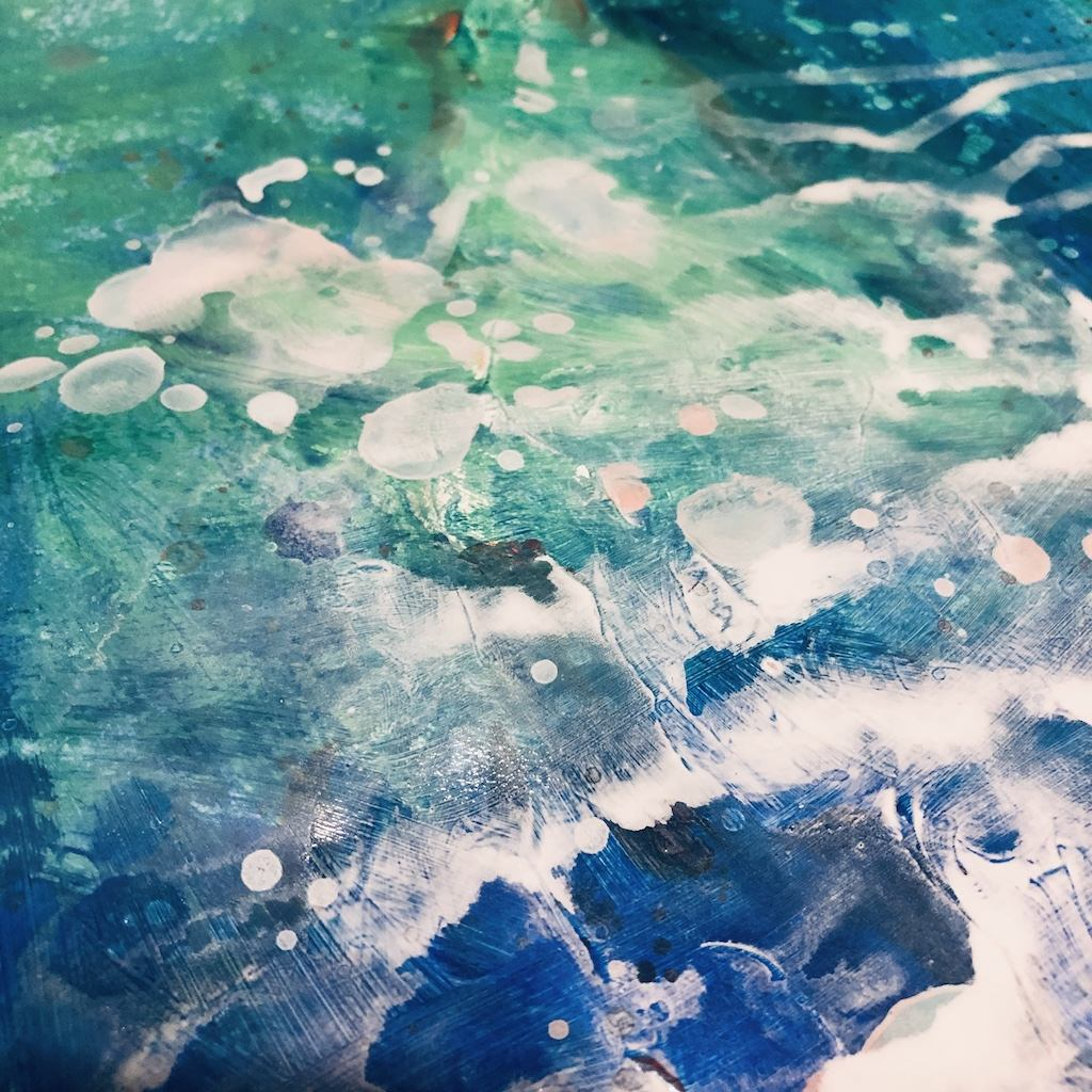 Abstract acrylic painting detail