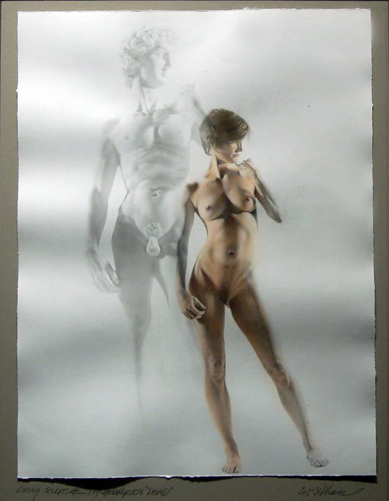 """Living Sculpture/Michelangelo's """"David"""""""