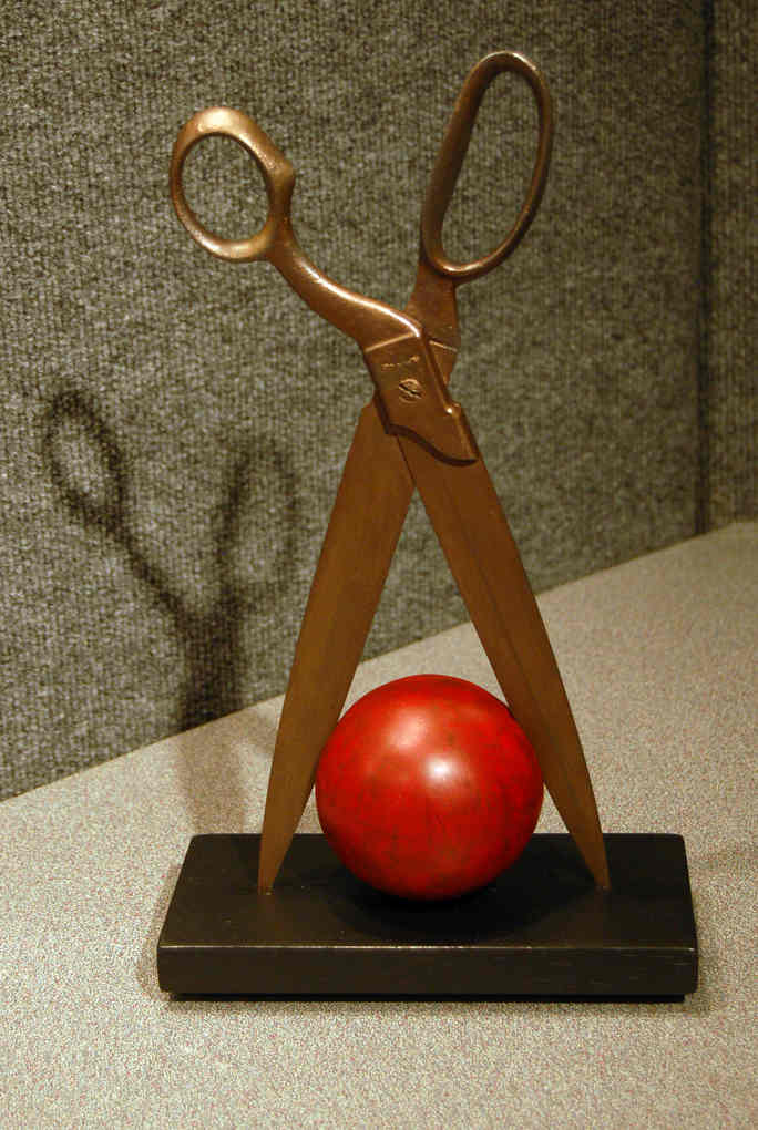 Red Ball with Shears