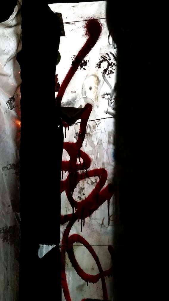 Graffiti and light - East Village, NYC