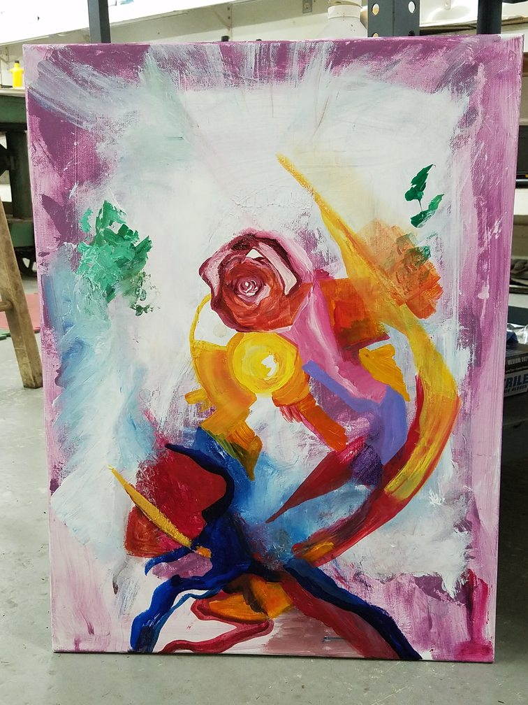A chakra painting evolves