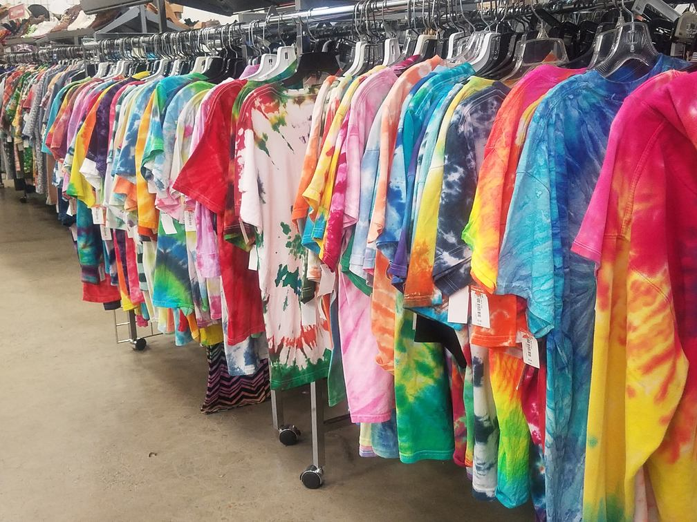 Tie dye at the goodwill