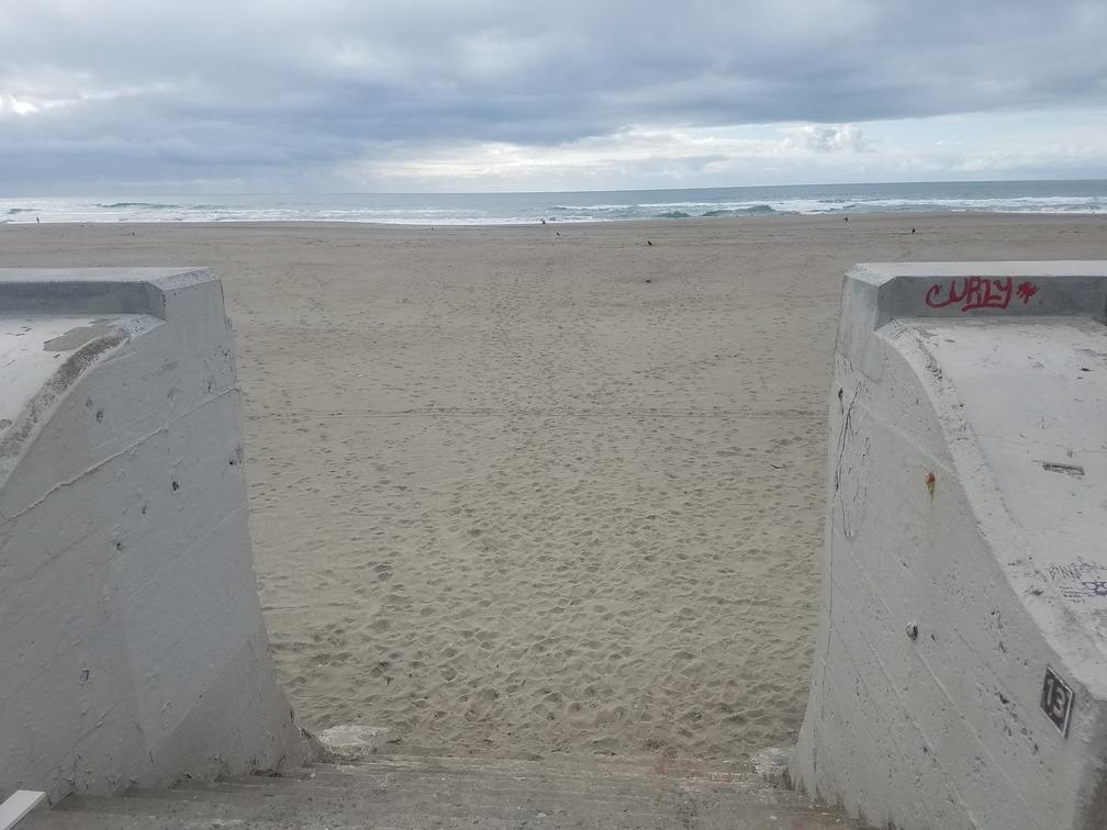 ocean beach steps