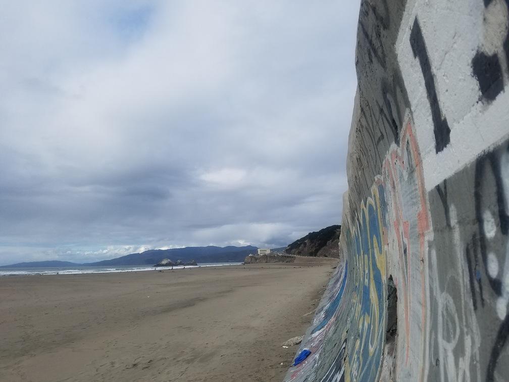 graffiti wall - ocean beach