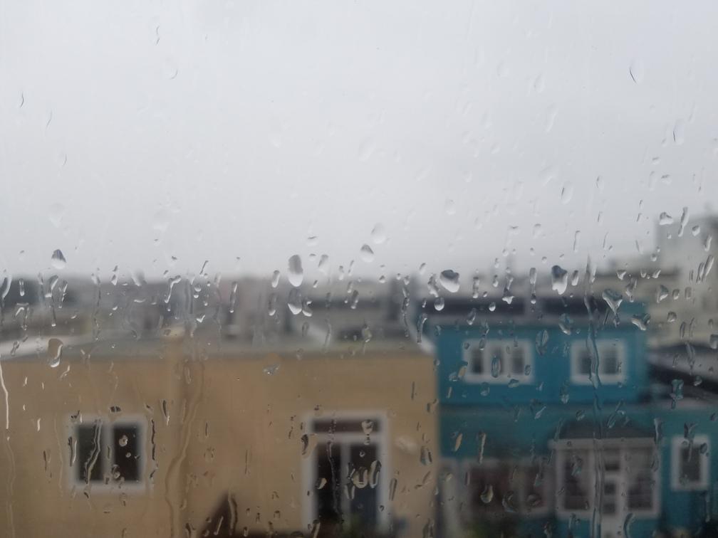 rainy foggy day in sf