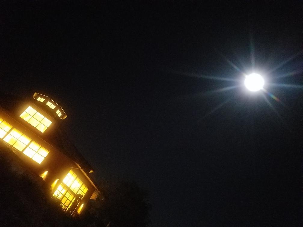 Entering into a full moon at spirit rock