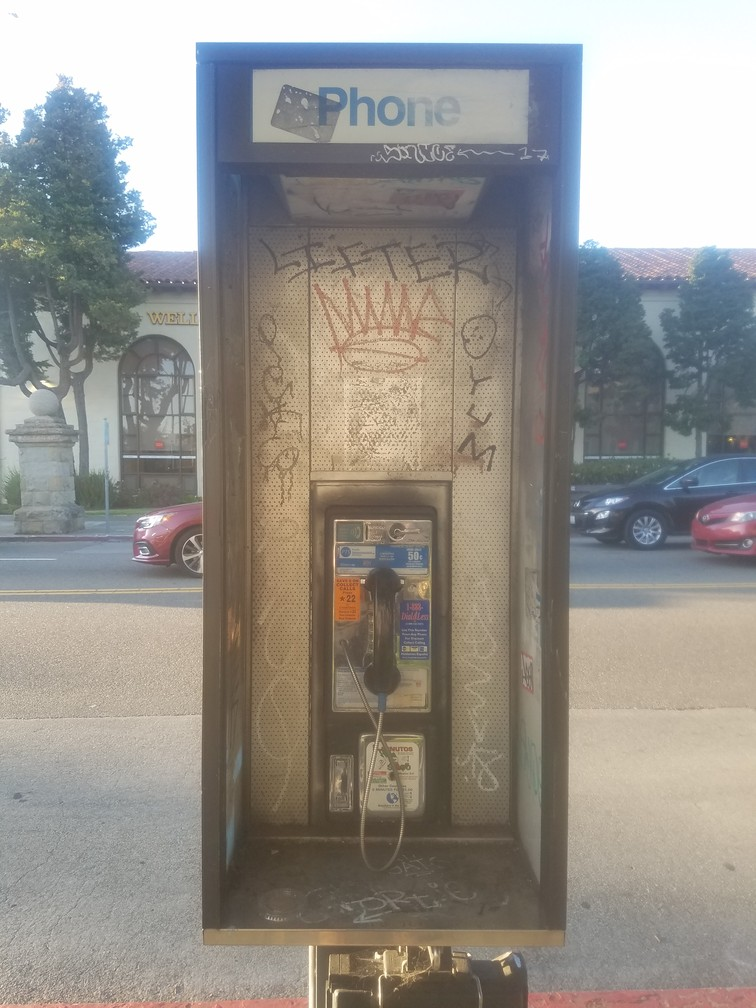 working phone booth Berkeley