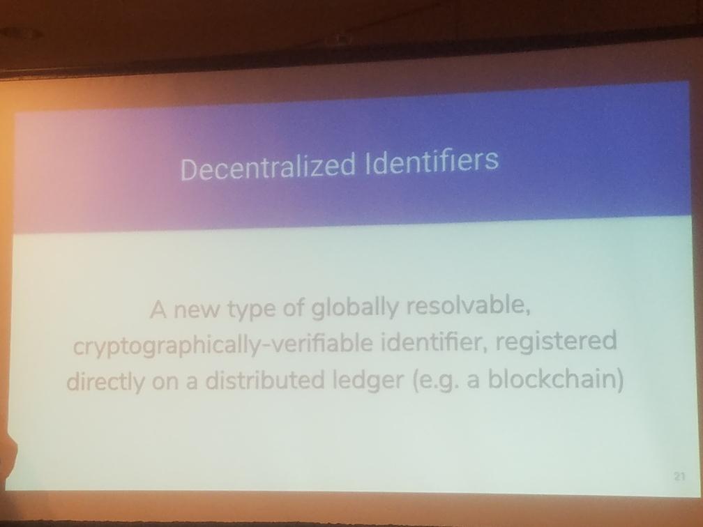 decentralized identifiers