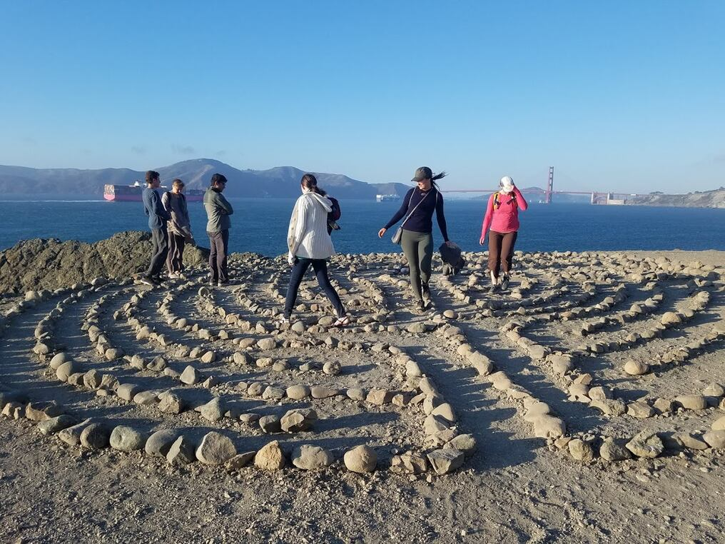 Walking the labyrinth in SF