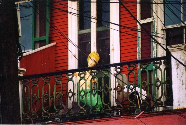 Mermaid on a Balcony