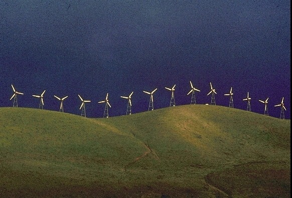 Windmills with Storm Cloud