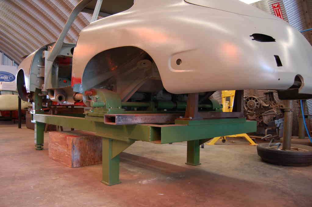 Porsche 356 factory collision repair bench