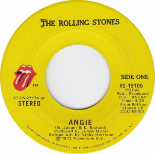 Angie Rolling Stones 45