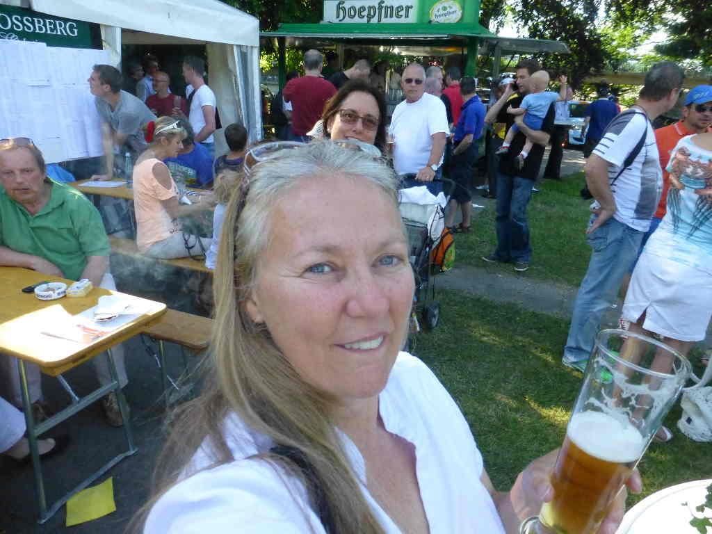 Enjoying a beer in Germany
