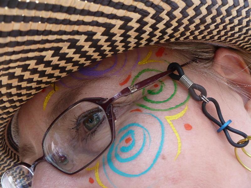 Spiral Face Paint