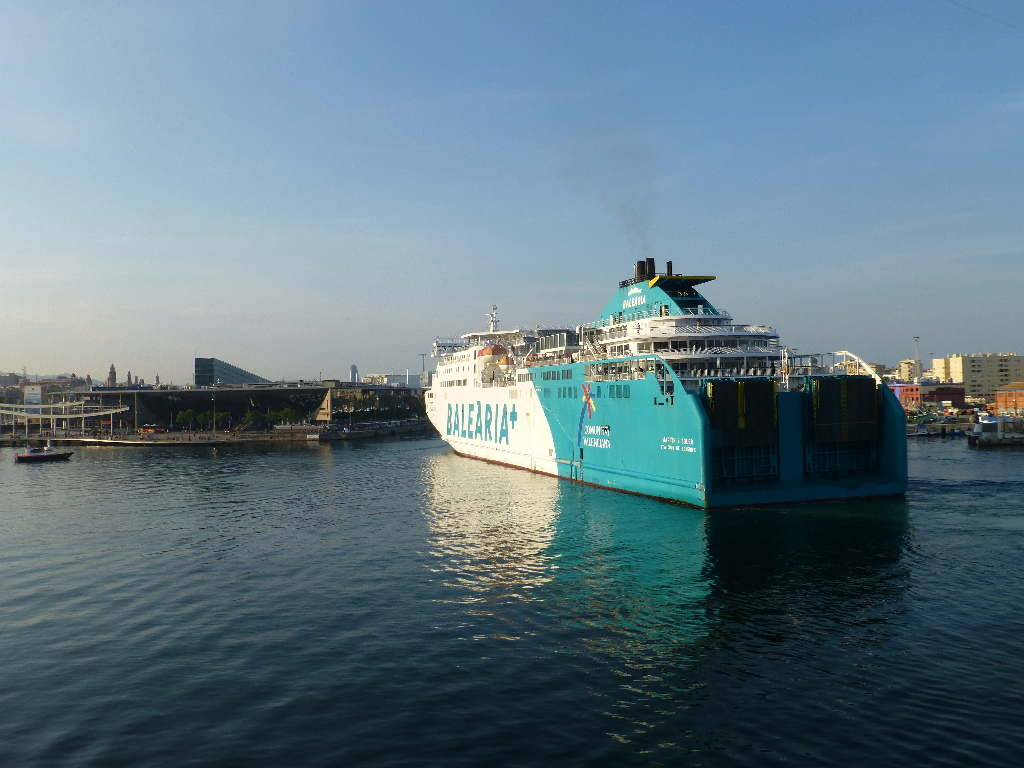 Coming into port Barcelona