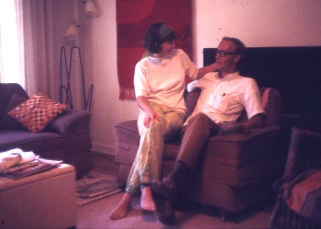 a couple in their living room 1969 - Tallahassee, Florida