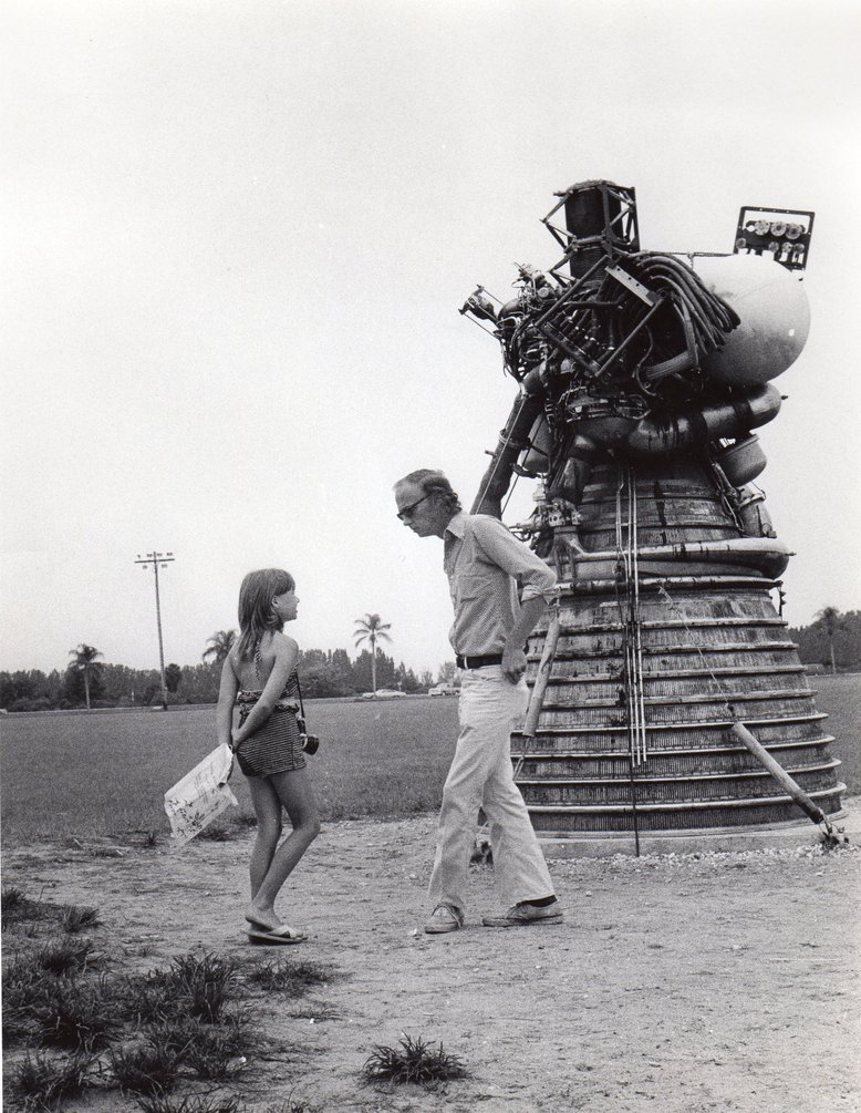 Margaret and her father at Cape Canaveral