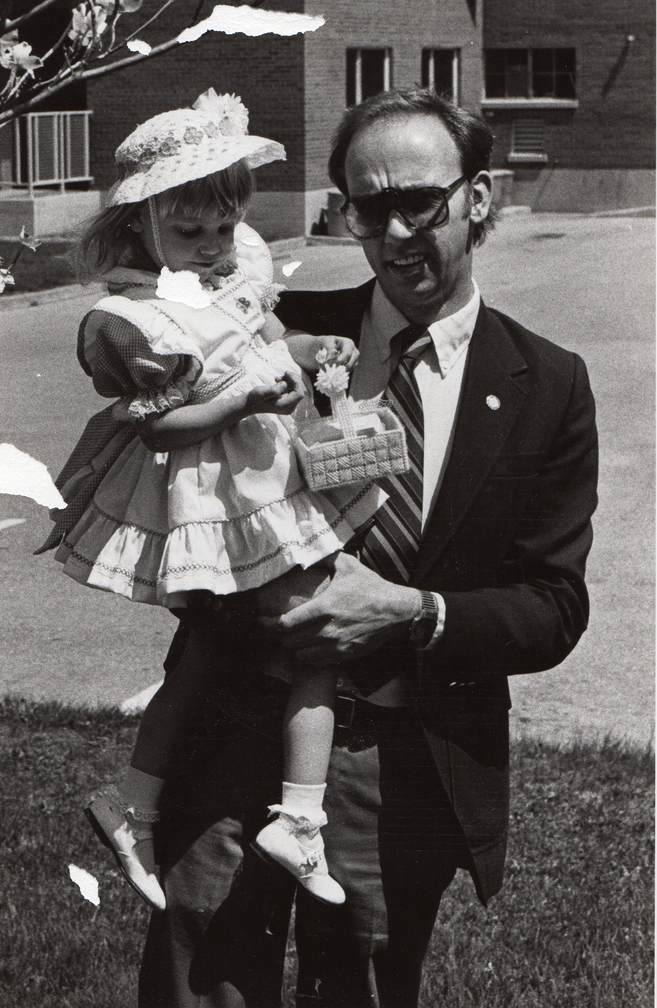 Amanda and Dad on Easter Sunday