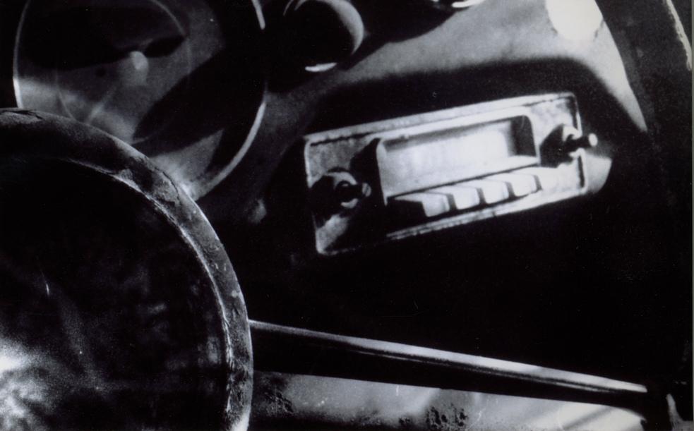 monochrome dash of an early 1951-1953 Porsche 356