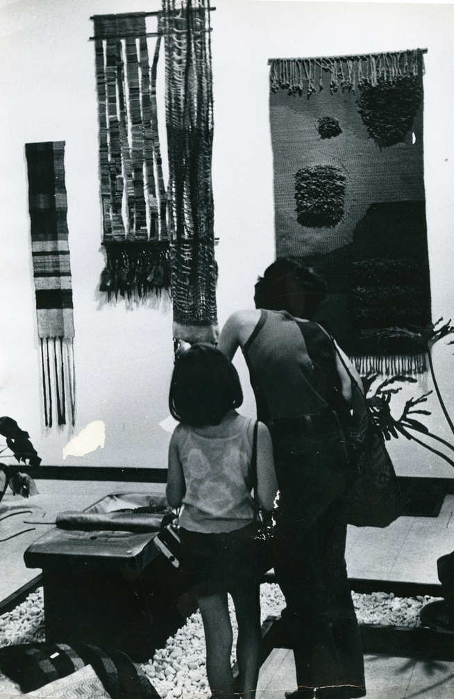 Textiles at a Gallery Show