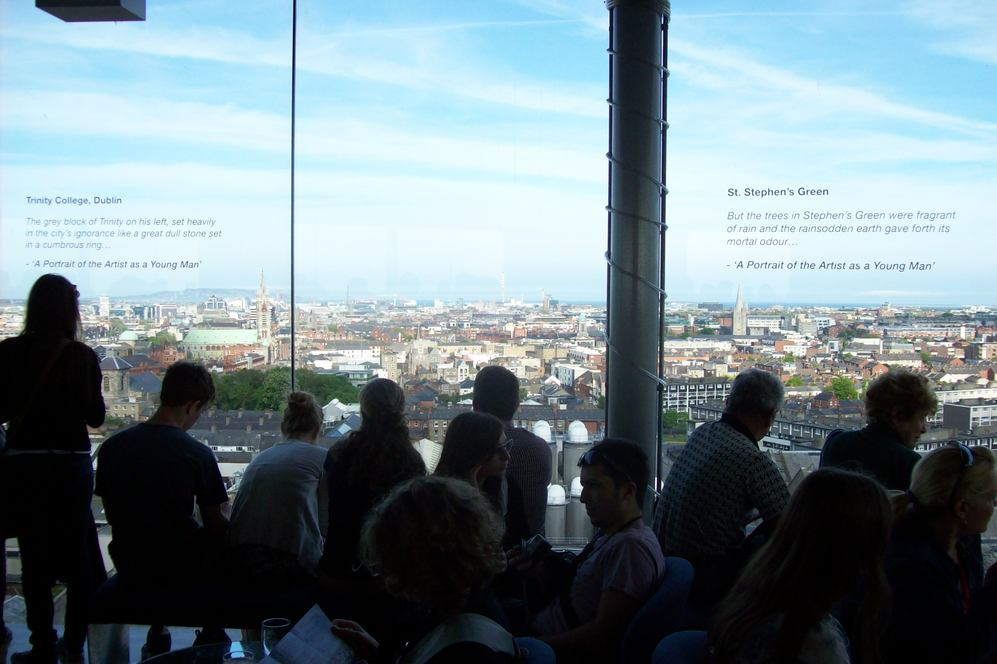 View from Gravity Bar at top of Guinness Brewery